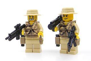 custom LEGO Soldier army Commando Rangers Minifigures w/ guns