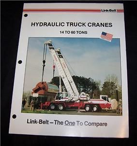 link belt hydraulic truck crane brochure 14 60 ton time