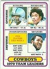 Topps Dallas Cowboys Team Leaders Tony Dorsett Tony Hill Harvey Martin