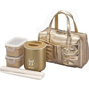 Japanese Lunch Box Set Tiger Lunch thermos GOLD LWY LA24NL Brand New