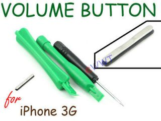 Black Volume Key Switch Button Repair Part Unit+Tool for iPhone 3G