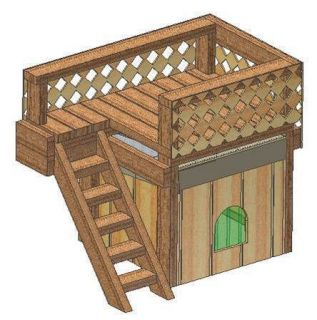 30 x 36 small dog house plans gable roof style with porch - Small dog house blueprints ...
