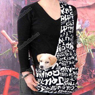 Dark Blue white Strip Oxford Cloth Sling Pet Dog Cat Shoulder Carrier
