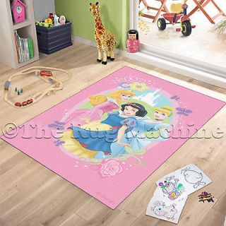 DISNEY PRINCESS PINK KIDS RUG 100x150 LICENCED WASHABLE **NEW**