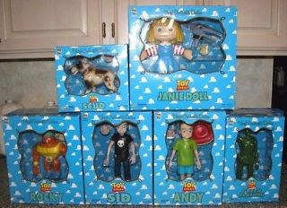 Toy Story Medicom Full Set of 6 Figures Rocky Janie Sid Andy Scud Army