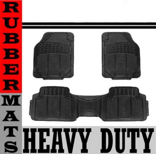 Rubber Black Floor Mat Front & Rear Liner Large (Fits Toyota Avalon