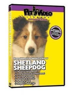shetland sheepdog puppy dog care training dvd new time left