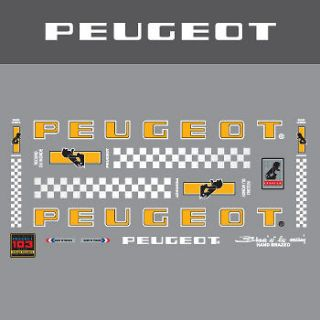 peugeot bicycle frame stickers decals transfers more options specify