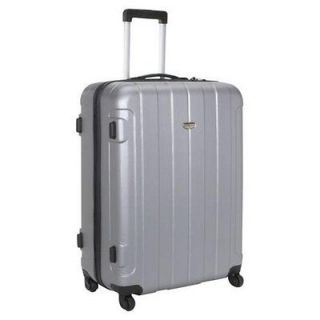 NEW Travelers Choice Rome 29 Hardshell Spinner Suitcase   Silver