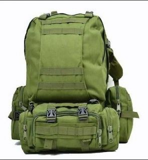 Military USMC Army Tactical Molle Backpack +1x Front + 2x Side Pouch