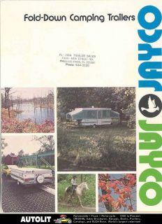 1975 jayco fold down travel trailer brochure