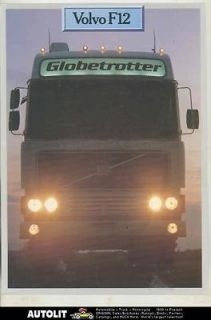 1977 Volvo F12 Globe Trotter Sleeper Cab Tractor Truck Brochure