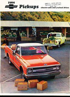 1969 chevrolet truck pickup sales brochure book camper time left