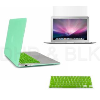 in 1 Green Hard Case for Macbook Air 13 + Keyboard Cover + LED