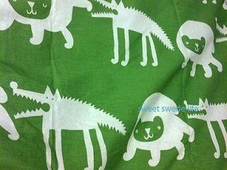 IKEA Kids Childrens Green Barnslig Ulven TWIN DUVET COVER SET Animals