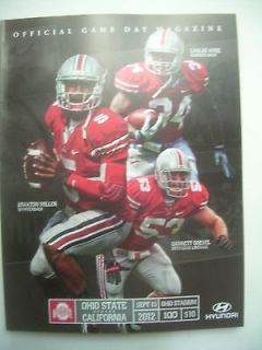 2012 Ohio State Buckeyes Football Program   OSU vs. CALIFORNIA Bears