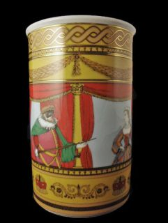 ROSENTHAL Germany by FORNASETTI Colorful Commedia dell Arte VASE