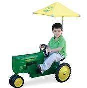 new john deere yellow umbrella for pedal tractor nib time