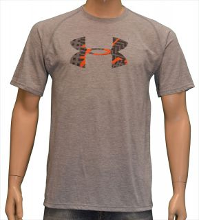 under armour men s big ua logo shirt heather gray