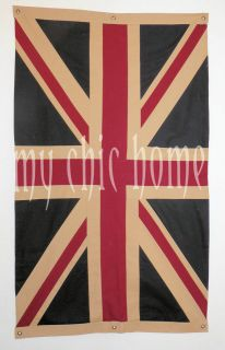 Large Vintage Double Sided Union Jack Flag 39 x 63 inches  Top
