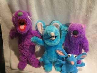 LOT OF BEAR IN THE BIG BLUE HOUSE PLUSHES OTTER TUTTER MOUSE