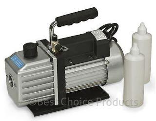 Vacuum Pump 2 Stage 3.9 CFM 1/3HP Rotary Vane Deep HVAC Tool For AC
