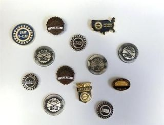 Lot of 13 UAW United Auto Workers Lapel Pins Skilled Trades Union