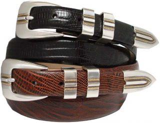 Vincente Mens Dress Belt , Golf Belts Calf Skin Leather Belt New Black