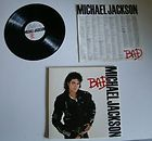 MICHAEL JACKSON SIGNED BAD SLEEVE VINTAGE vinyl 12