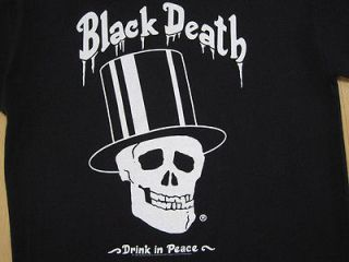 NEVER WORN 1992 vtg BLACK DEATH VODKA T SHIRT SLASH guns n roses GNR