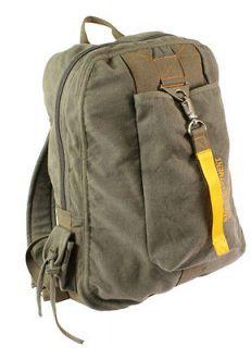 olive drab military vintage canvas pilot flight bag time left