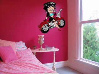 betty boop motorbike coloured wall sticker more options size time