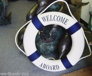 Newly listed Nautical Welcome Aboard Life Ring Navy Blue 13.5 New