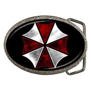 NEW Design Umbrella Corporation Resident Evil Logo Belt Buckle Match