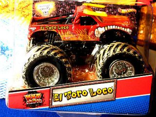 HOT WHEELS MONSTER JAM EL TORO LOCO HTF/ CARD W/BULL HORNS & EL TORO