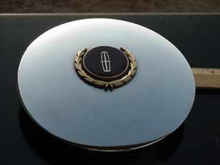 lincoln TOWN CAR center cap GOLD LOGO for WIRE WHEEL 7 face dia