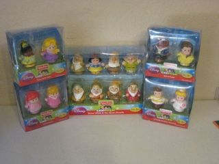 Disney Princess Snow White Figures Lot Use w/Palace Castle Belle