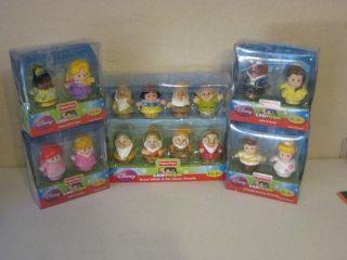 Disney Princess Snow White Figures Lot Use w/Palace Castle Belle