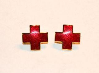 nurse s red cross collar pin set