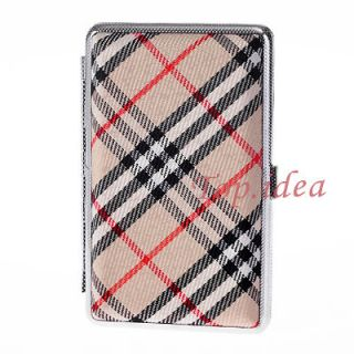 NEW XMAS GIFT BLACK RED YELLOW PLAIDS SMALL SIZE CIGARETTE BOX CASE
