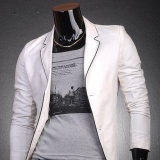 Designer Slim Fit Jacket Blazer Coat Shirt Stylish 3 Colors S M L 8922