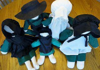 FIVE 5 Cloth Faceless Dolls Man Woman 20 Girls Doll Clothing Dress