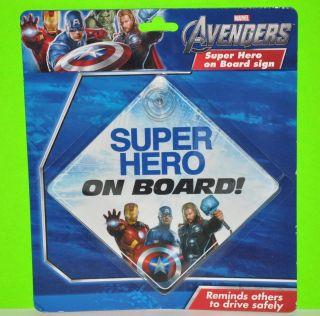 MARVEL AVENGERS SUPER HERO ON BOARD CAR WINDOW SIGN IRONMAN CAPTAI
