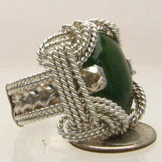 wire wrapped sterling silver green moss agate ring time left