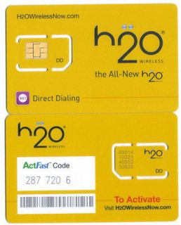 newly listed h2o lots of 100 sim cards 25 pamphlets
