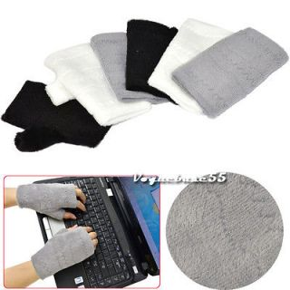 New Womens Ladies Fashion Warmer Fingerless Gloves Three Colors VE4A