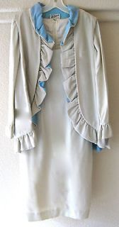 Vintage MAD MEN Beautiful Designer Dress & Vest By Lilli Diamond of