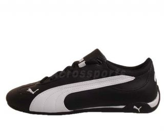 Puma Fast Cat Lea Black Leather White 2012 New Mens Racing Casual