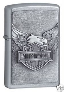 Zippo Harley Davidson Eagle Lighter,Emblem​, Street Chrome, Low