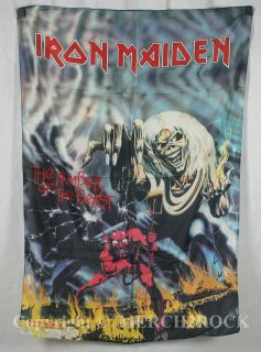 Authentic IRON MAIDEN Number Of The Beast Quality Silk Like Poster